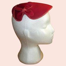 1950's Fuchsia Hat