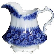 "English Flow Blue ""Olympia"" Pitcher"