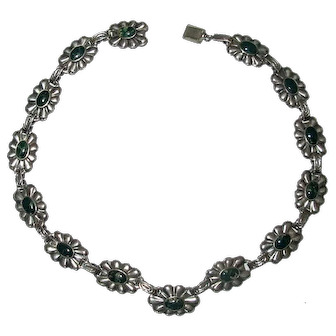Sterling Silver & Turquoise Link Necklace
