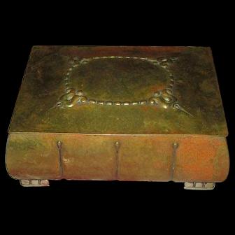 Arts & Crafts Brass-Bound Box