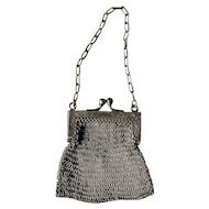 Small German Silver Mesh Purse