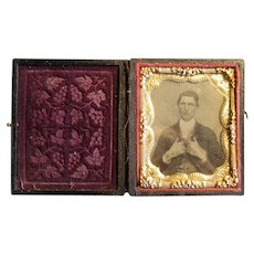 Victorian Daguerreotype Photograph in Case