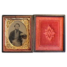 Daguerreotype Photograph in Case