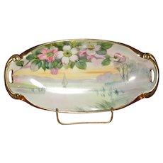 Hand-Painted Nippon Porcelain Relish Dish