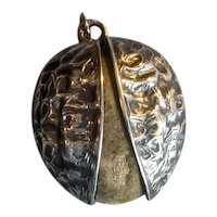 Sterling Silver Walnut Chatelaine Pin-Cushion