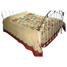 Vintage Applique Quilt with Pennsylvania Dutch Motif