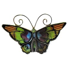 D-A David Andersen Multicolored Enamel Butterfly Pin