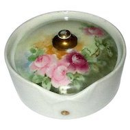German Porcelain Hand-Decorated Collar Button Box