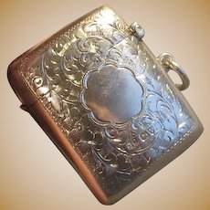 "Sterling Silver English ""Vesta"" Match Safe"