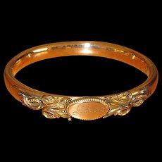 """Fancy Victorian Gold-Filled """"Alice"""" Bangle Bracelet"""