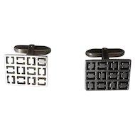 835 Silver Cufflinks with Modernist Design