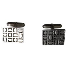 835 Silver Cufflinks with Modernist Design