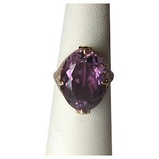 10K Edwardian Amethyst Ring
