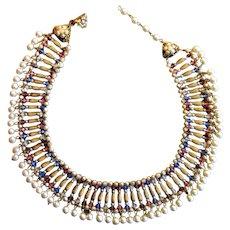 Miriam Haskell Costume Collar Necklace