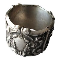 Antique Sterling Silver Repousse-Work Napkin Ring