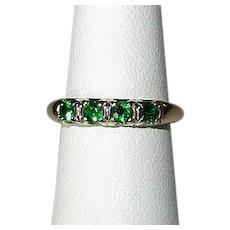 14K Green Garnet Band Ring