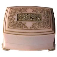 Vintage Pink Celluloid Ring Box