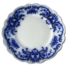 "English Flow Blue ""Portman"" 9"" Plate"