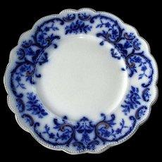 "English Flow Blue ""Portman"" 9"" Plate"