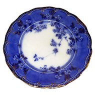 """English Flow Blue 9"""" Lugano Plate"""