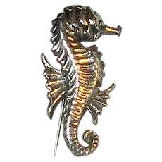 Small Cini Sterling Seahorse Pin