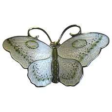 HP Norway Sterling & Enamel Butterfly Pin