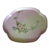 Vintage Hand-Decorated China Dresser Tray