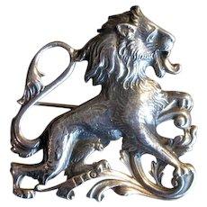 Cini Sterling Leo the Lion Zodiac Pin