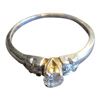 Platinum Ring with 20 Point Diamond