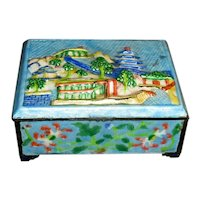 Colorful Chinese Enamel Trinket Box