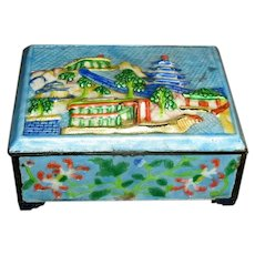 Colorful Chinese Enamel Trinket Box