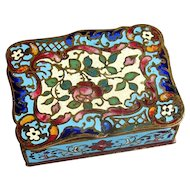 French Enamel Champleve Brass Box