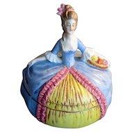 Hand-Painted China Dresser Doll Trinket Box