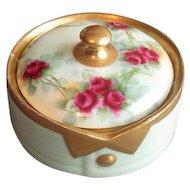 Hand-Decorated China Collar Button Box