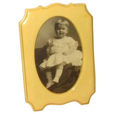 "Celluloid ""French Ivory"" Tabletop Picture Frame"