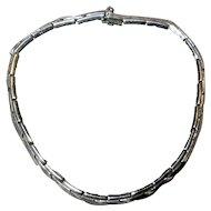 Vintage Mexican Sterling Modernist Choker Necklace