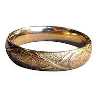 Victorian Gold-Filled Bangle Bracelet