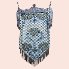 Vintage Mandalian Enamel Mesh Purse