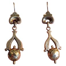 Victorian Drop Earrings with 14K Wires