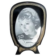 Art Deco Black Celluloid Table-Top Picture Frame