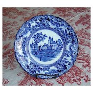 "English Flow Blue F. Winkle & Co. ""Togo"" Plate"