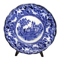 "Flow Blue Pottery ""Togo"" 10"" Plate"