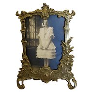 Fancy Cast-Brass Tabletop Picture Frame
