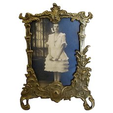 Fancy Cast-Brass Tabletop Picture Frame