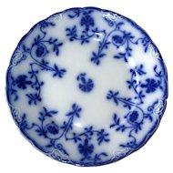 "English Flow Blue ""Colonial"" 7"" Plate"