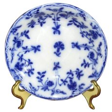 "English Flow Blue Meakin ""Colonial"" Berry Bowl"