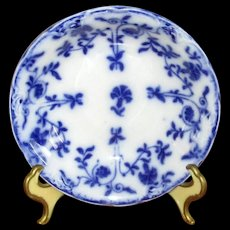 """English Flow Blue Meakin """"Colonial"""" Berry Bowl"""