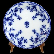 "English Flow Blue Meakin ""Colonial"" Soup Bowl"