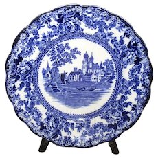 "English Flow Blue ""Togo"" Plate"