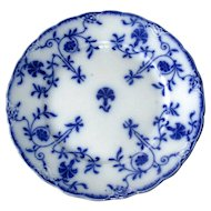 "English Flow Blue ""Colonial"" 8"" Plate"